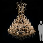 extra large chandelier for wedding or event hire and rental