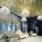Chandeliers for Indaian wedding decoration and illumination for hire and rental